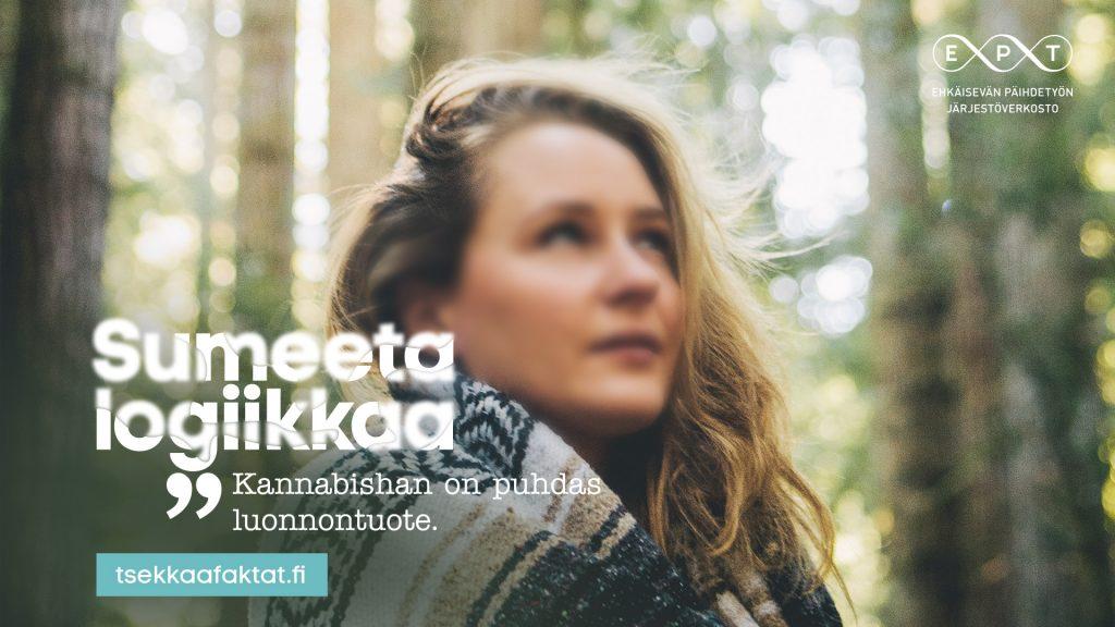 Sumeeta logiikkaa: Kannabishan on puhdas luonnontuote. www.tsekkaafaktat.fi