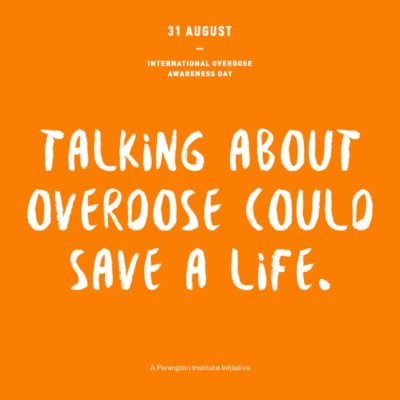 Talking about overdose could save a life