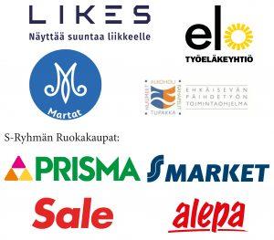 Tipaton tammikuu 2021 viestintäyhteistyökumppanit: LIKES, Työeläkeyhtiö ELO, Marttaliitto, THL, S-ryhmän ruokakaupat: Prisma, S-Market, Sale, Alepa