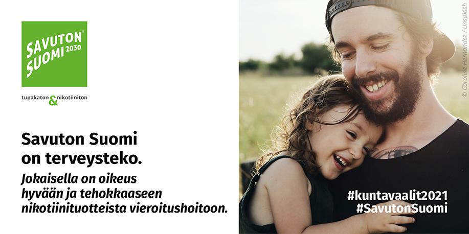 Savuton Suomi on terveysteko. Jokaisella on oikeus hyvään ja tehokkaaseen nikotiinituotteista vieroitushoitoon.